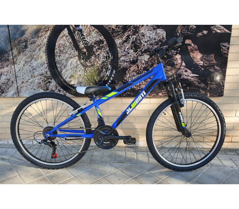 """Bicicleta JL-Wenti 24"""" Niño Revoshift+suspension DELTA"""
