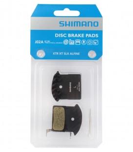 Pastillas de Freno MTB Shimano XTR/XT/SLX/Alfine Resina Refrigeradas J02A