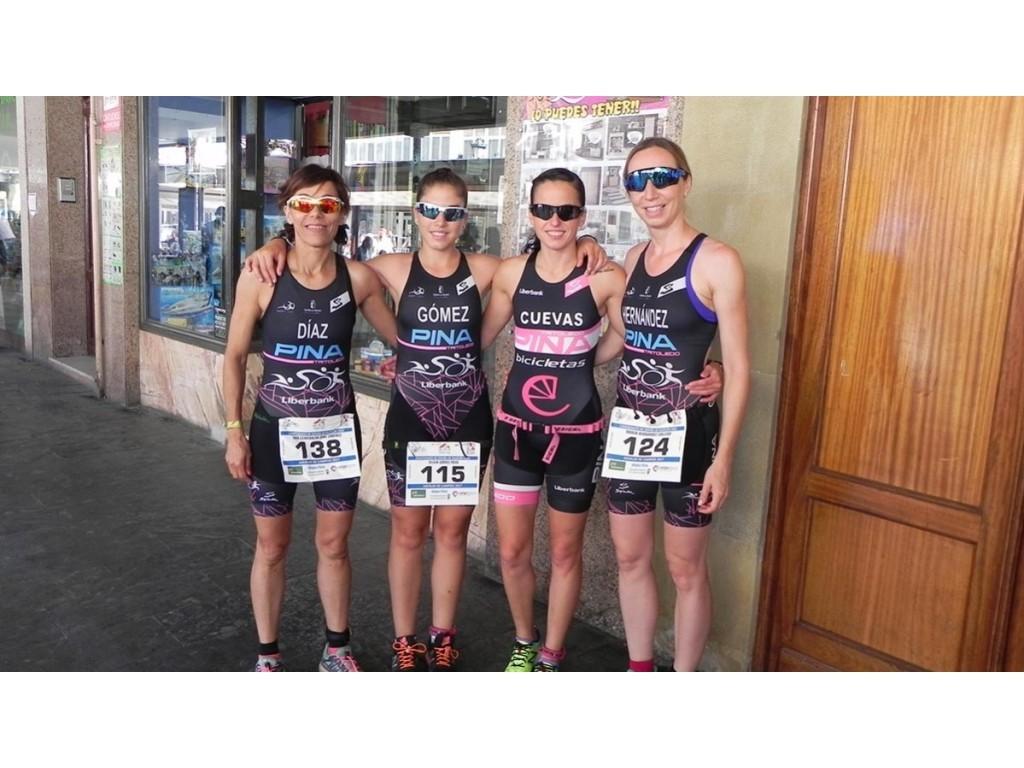 El equipo femenino de Bicis Pina Tritoledo subcampeón de España de Duatlón Cross