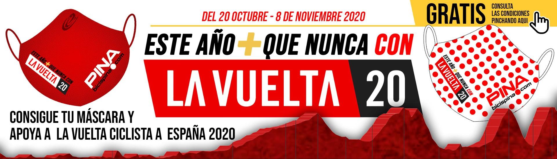 Mascarilla apoyo a La Vuelta 2020