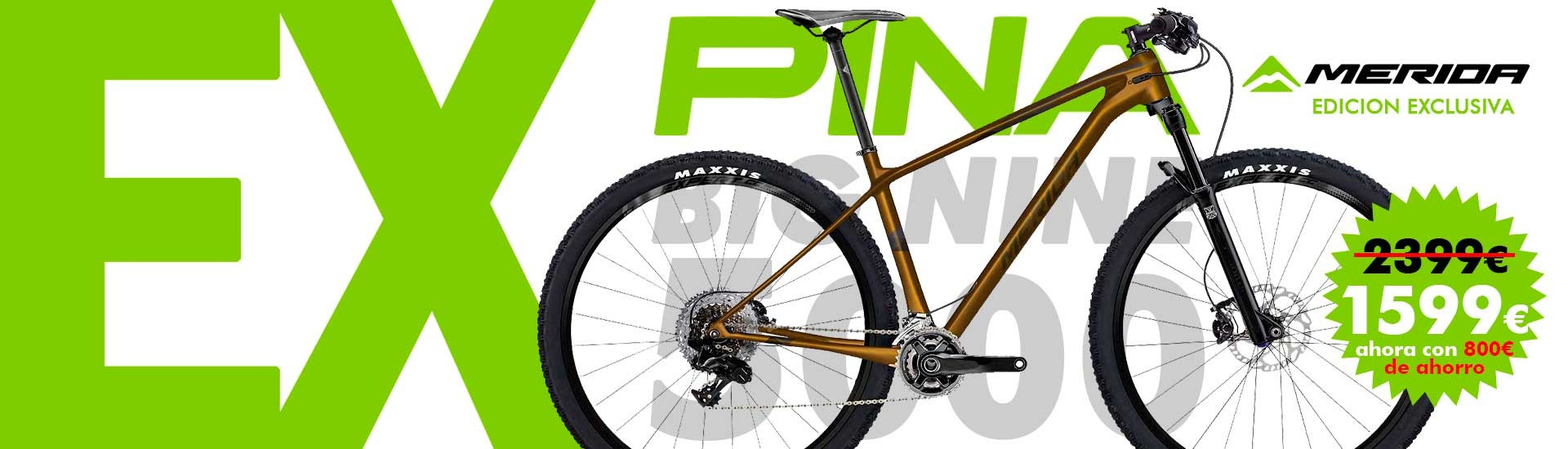 Bicicleta de montaña Merida Big Nine 5000 2019 Exclusiva Bicis Pina